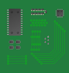Micro chip collection chipset vector