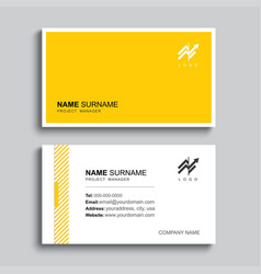 Minimal business card print template design vector
