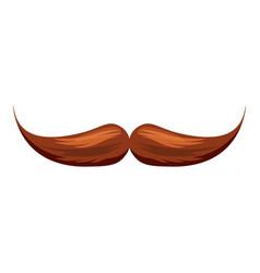 Moustache icon cartoon style vector
