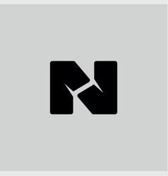 n logo icon vector image