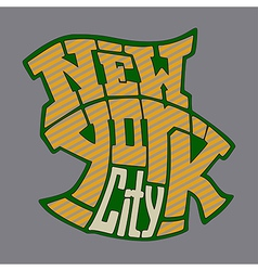 new york 1V vector image