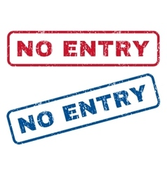 No Entry Rubber Stamps vector image