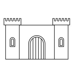 old fortress towers icon outline style vector image