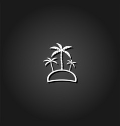 palm island - travel icon flat vector image