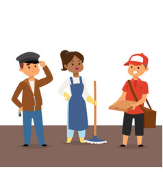 People part-time job professions set vector