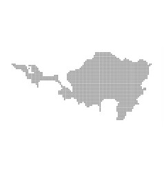 pixel map of sint maarten dotted map of sint vector image