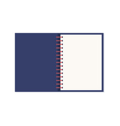realistic opened notebook with spiral vector image