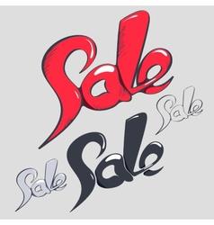 Sale headlines hand lettering vector image