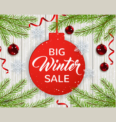 seasonal winter sale vector image