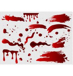 set blood spots smears vector image