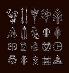 Set minimal geometric shapes vector