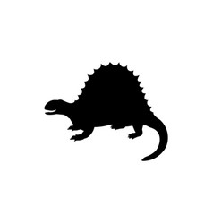 silhouette spinosaurus dinosaur jurassic vector image