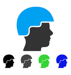Soldier helmet flat icon vector