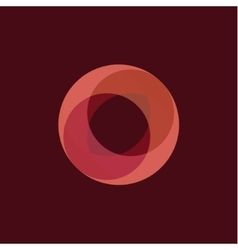 Sphere abstract a fiery orange vector