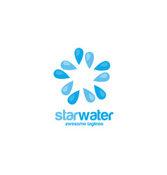 star water logo concept vector image
