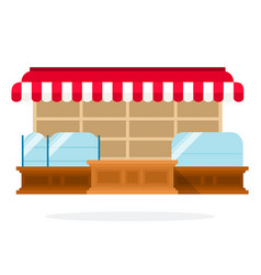 store flat material design isolated object on vector image