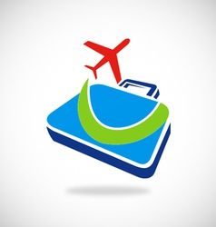 Travel plane business logo vector
