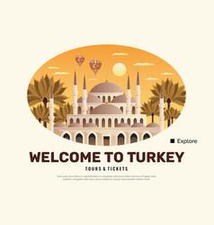 Turkey travel poster vector