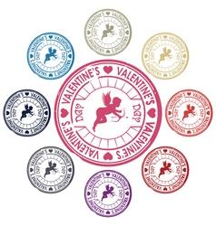 valentines stamp vector image