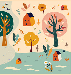 With nature landscape vector