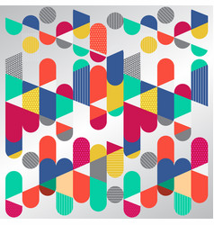abstract geometric graphic colorful circle vector image