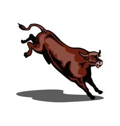 Bull Jumping vector image vector image