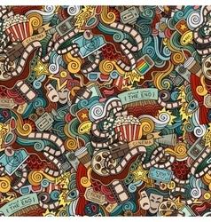 Cartoon doodles hand drawn cinema movie film vector image vector image