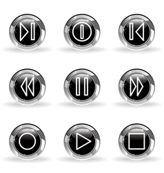 Glossy icon set 23 vector image vector image