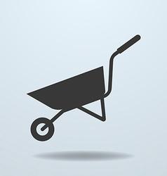 Icon of Wheelbarrow vector image vector image