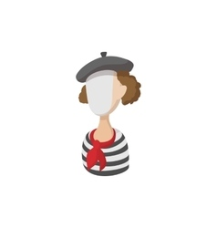 Mime icon cartoon style vector image vector image