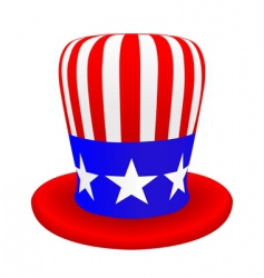 usa top hat vector image vector image