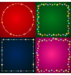 Flash illumination vector image vector image
