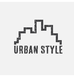 grunge urban style design template vector image vector image