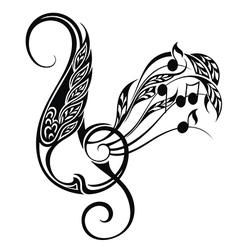 Music decorative vector image vector image