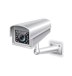 surveillance camera isolated vector image