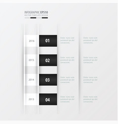 timeline design design black and white color vector image vector image