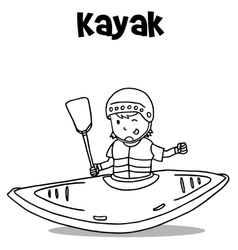 Vetcor art of kayak hand draw vector image vector image
