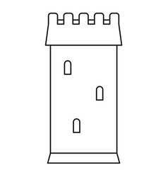 ancient battle tower icon outline style vector image vector image