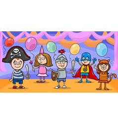 children at fancy ball cartoon vector image vector image
