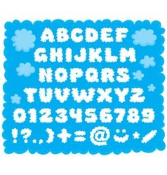 Cloud-shaped font vector