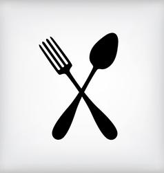 spoon gray vector image vector image
