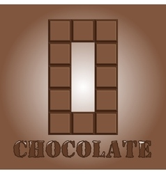 The number of bars chocolate Zero vector image