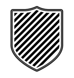 coat of arms with striped in monochrome silhouette vector image vector image