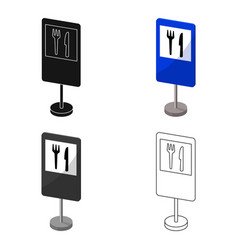 guide road sign icon in cartoon style isolated on vector image
