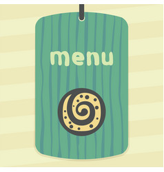 outline sweet roll cookie icon modern infographic vector image vector image