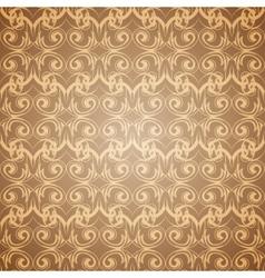 Seamless beige pattern wallpaper in Victorian vector image