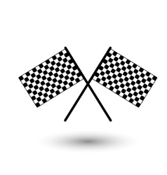 Start flag checkered flag vector image