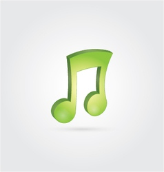 3D Music Note vector