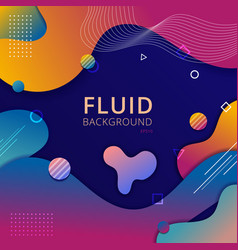 abstract background fluid shape vibrant gradient vector image