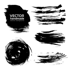 Abstract brush strokes paint vector